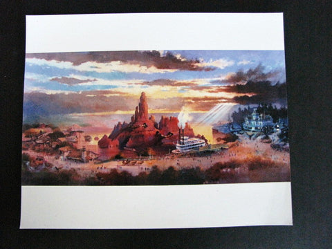 Tokyo Disneyland 1987 Big Thunder Mountain Railroad Press Photo