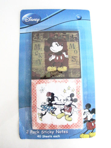 Disney 2009 Mickey & Minnie Mouse Sticky Note Pad Set