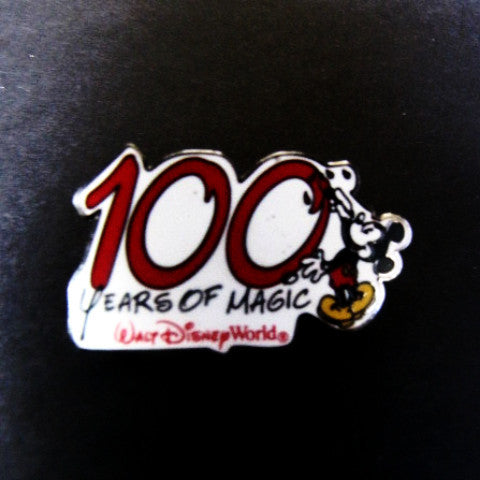 "Walt Disney ""100 Years Of Magic"" Mickey Trading Pin"