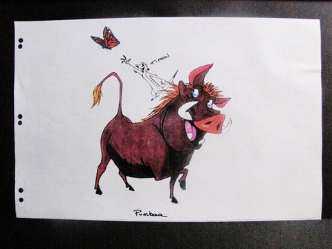Disney World Lion King Timon & Pumbaa WDI Color Model Concept Art Print