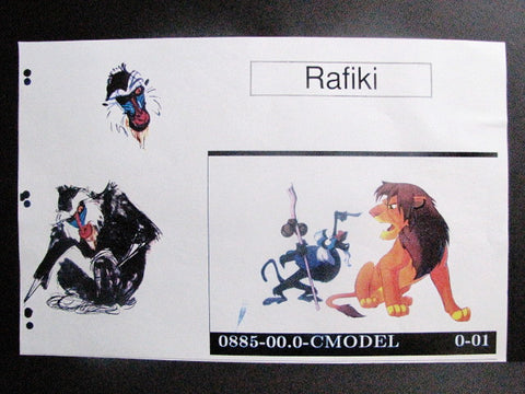 Disney World Lion King Rafiki WDI Color Model Concept Art Print