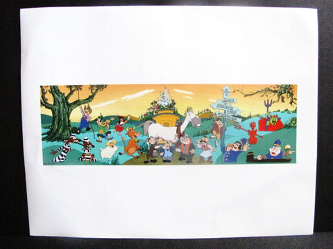 Disney World 40th Anniversary Mr. Toad's Wild Ride Mark Seppala Signed Mural Print
