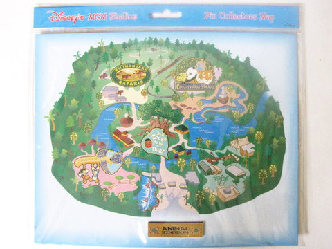 Walt Disney World Retired Animal Kingdom Pin Collectors Map