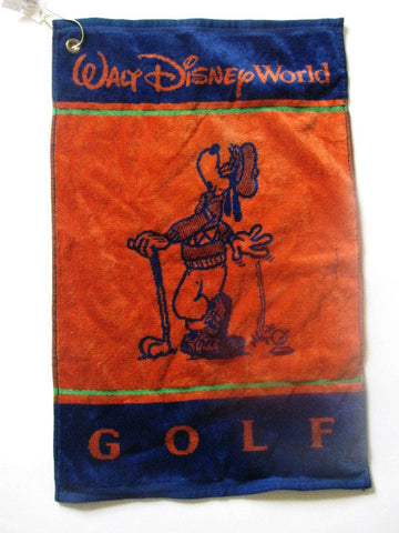 Walt Disney World Retired Goofy Golf Towel w/ Hook