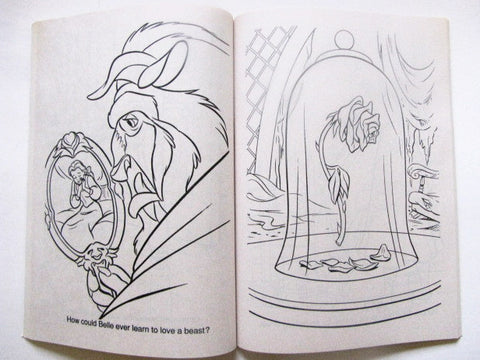 Disney\'s Beauty and the Beast 1991 Golden Coloring Book ...