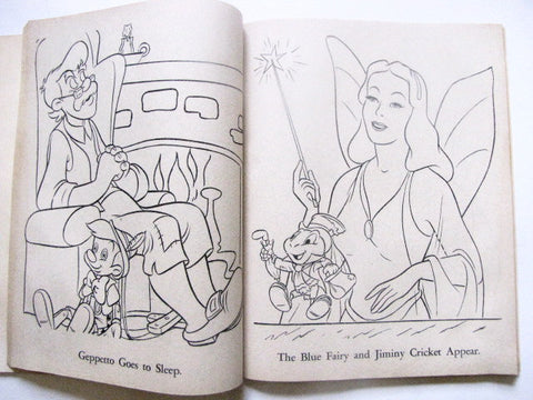 Walt Disney\'s Fairy Tales Vintage 1969 Coloring Book ...