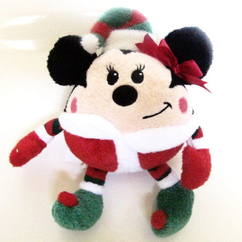 Disney Store Retired Minnie Mouse Round Holiday Plush