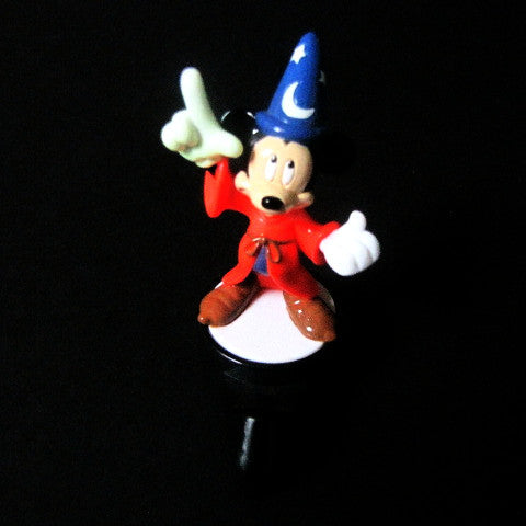 Disney 2006 Sorcerer Mickey Takara TOMY Light Up Figurine
