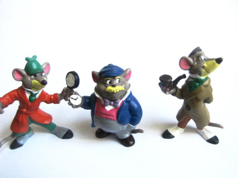 Disney 1986 Great Mouse Detective Bully W. Germany PVC Figures