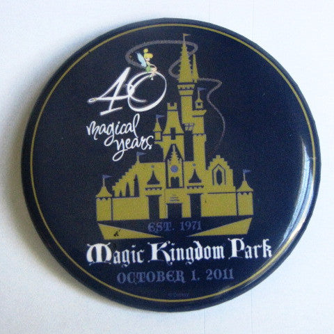 Disney World 2011 Magic Kingdom 40th Anniversary Pinback Button