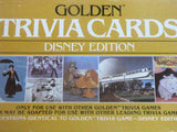 Disney Edition 1984 Golden Trivia Cards Set