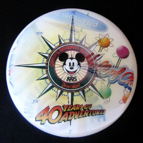 Disneyana Convention 1995 Disneyland 40th Anniversary Lenticular Button