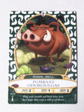 Disney Parks Sorcerer's Of The Magic Kingdom Pumbaa Playing Card