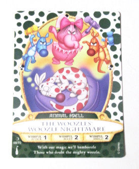 Disney Parks Sorcerer's Of The Magic Kingdom Woozles Playing Card