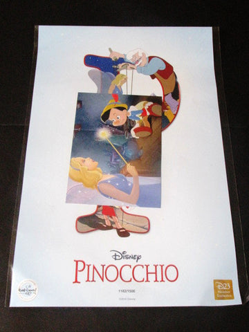 Disney 2016 Destination D Pinocchio D23 LE Print & Post Card