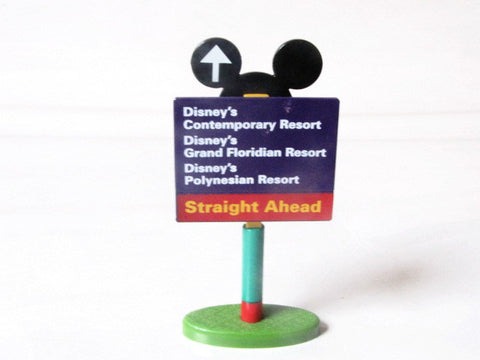Walt Disney World Purple Road Sign Monorail Toy Accessory
