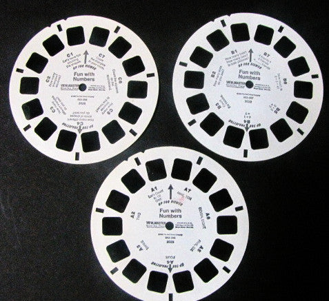 Walt Disney 1990 Fun With Numbers View-Master 3 Reel Set