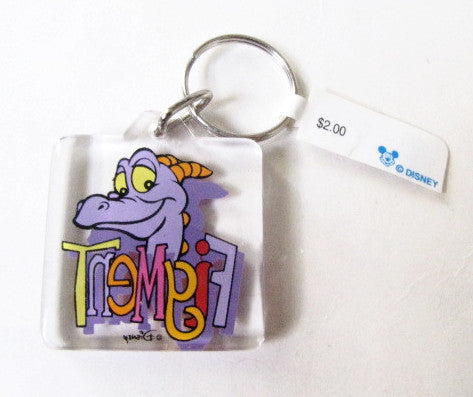 Walt Disney World Retired EPCOT Center Figment Keychain