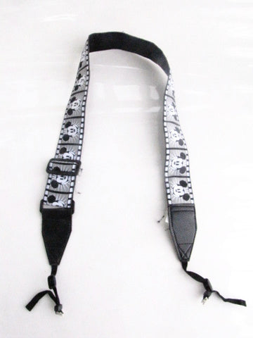 Disney Parks Retired Mickey Mouse Black And White Camera Strap