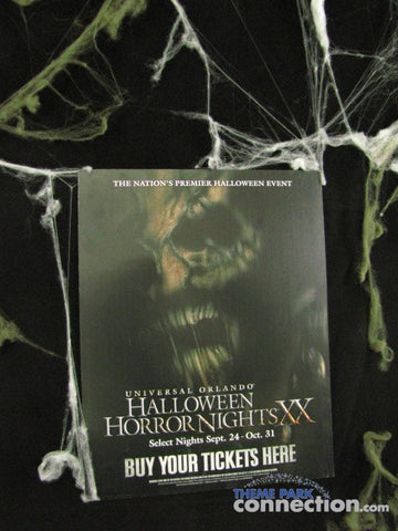 Halloween Horror Nights XX Universal Orlando 2010 Fear Poster Sign Prop