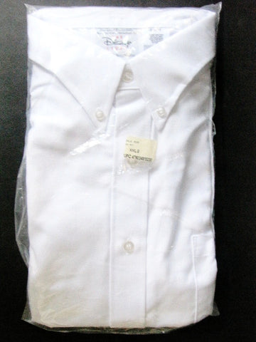 Disney Store Manager Cast Member Button Down White Shirt