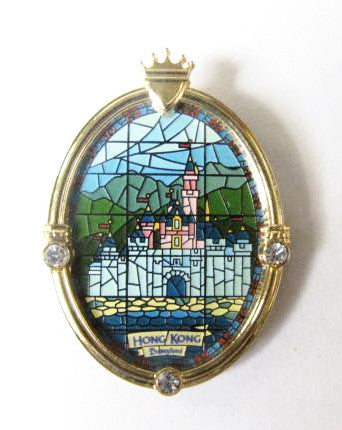 Disney Parks 2005 Hong Kong Disneyland LE Castle Window Pin
