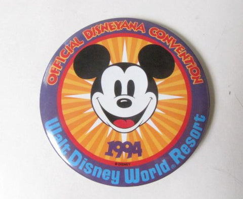 Disneyana Convention 1994 Walt Disney World Pinback Button