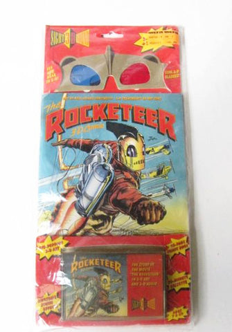 Disney 1991 The Rocketeer 3D Sight & Sound Comic Book & Cassette