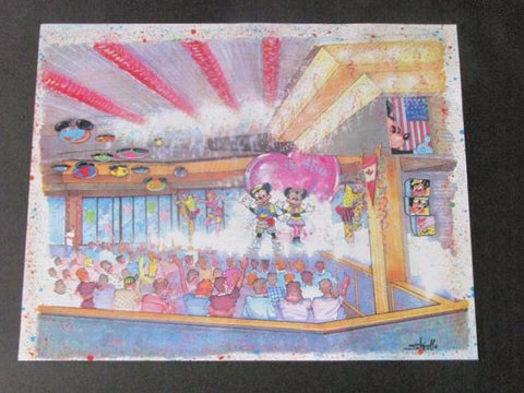 Disney World Rare 1992 Mickey's 65th WDI Circulated Concept Art Printout