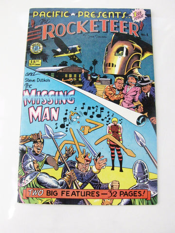Pacific Comics 1982 The Rocketeer & The Missing Man Double Feature Comic Book