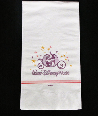 Walt Disney World Resort 25th Anniversary Cinderella Coach Napkin