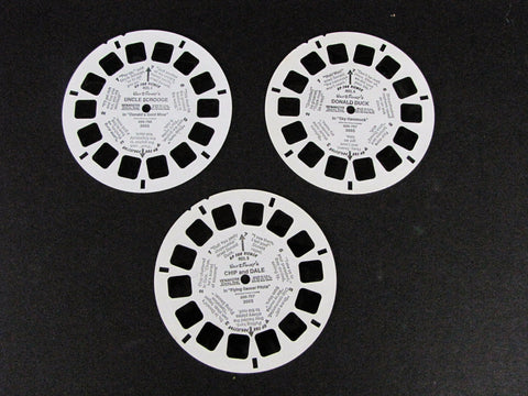 Disney 1987 Donald Duck, Chip & Dale, Uncle Scrooge View-Master 3 Reel Set