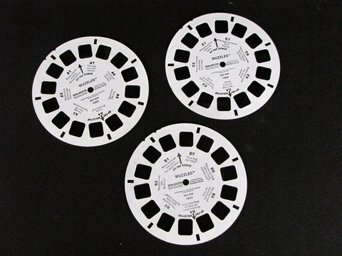 Walt Disney Productions 1985 Wuzzles View-Master 3 Reel Set