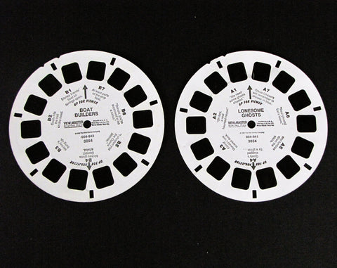 Walt Disney 1986 Boat Builders / Lonesome Ghosts View-Master 2 Reel Set