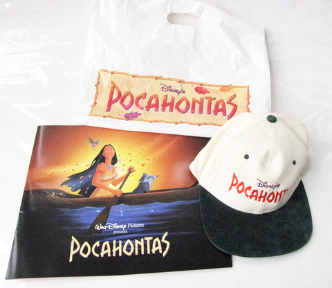 Walt Disney Pictures Pocahontas 1995 Premiere In The Park Program & Baseball Cap