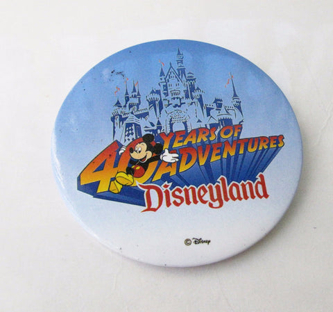 Disneyland 40th Anniversary 1995 Lenticular Button