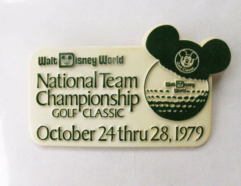 Walt Disney World 1979 Vintage Golf Classic Pinback Button