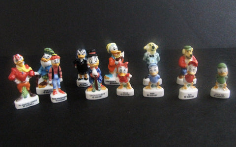 Walt Disney Rare Ducktales Feves French Figurine Set