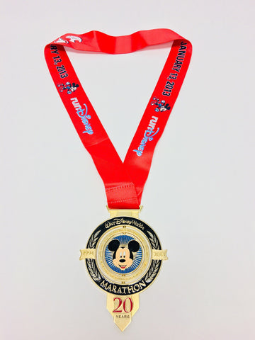 20th Anniversary Walt Disney World Marathon Medal