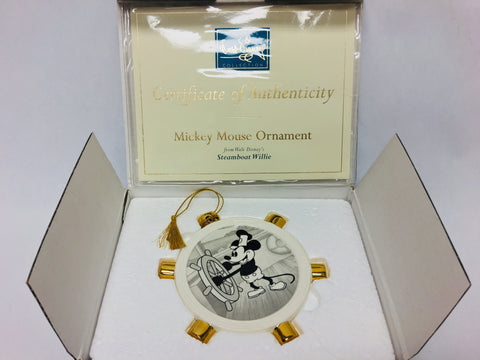 Walt Disney's Classic Collection Steamboat Willie Christmas Ornament