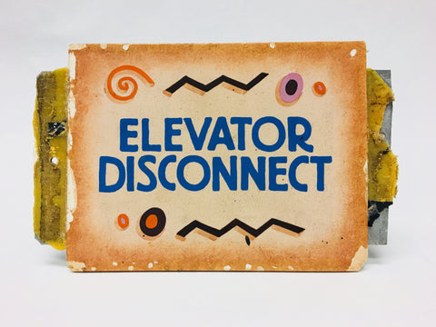 Disneyland California Adventure Elevator Disconnect Park Sign Prop