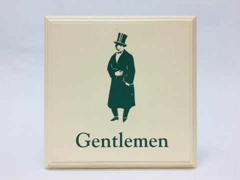 Disney's Grand Floridian Resort & Spa Gentlemen's Restroom Prop Display Sign