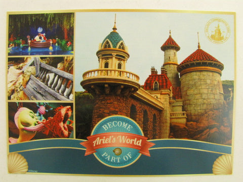 Disney World 2012 The Little Mermaid New Fantasyland Preview Card