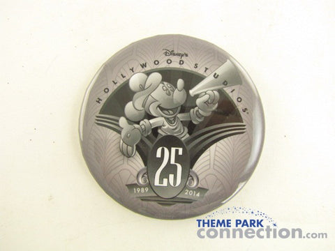 Disney Hollywood Studios 25th Anniversary 2014 Pinback Button