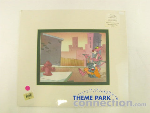 Pink Panther 1971 Cartoon Hand Painted Animation Cel & Sketch