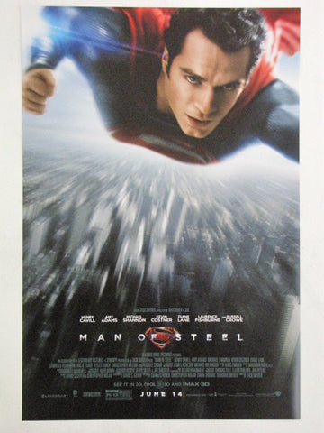 MAN OF STEEL 2013 IMAX 3D Promo Exclusive Superman Movie Poster