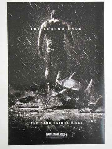 THE DARK KNIGHT RISES 2012 Batman BANE IMAX Promo Exclusive Movie Poster