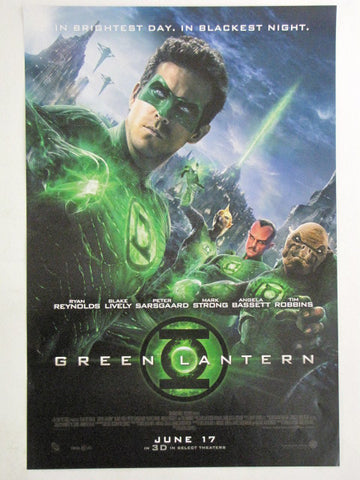 DC GREEN LANTERN Ryan Reynolds 2011 Theatrical Promo Exclusive Movie Poster
