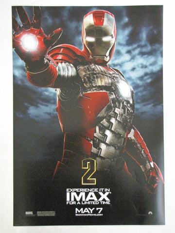 Marvel IRON MAN 2 Robert Downey Jr. 2010 Theatrical IMAX Promo Exclusive Movie Poster