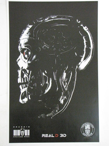 TERMINATOR GENYSIS T-800 Endoskeleton AMC Theatrical Real 3D Promo Exclusive Movie Poster